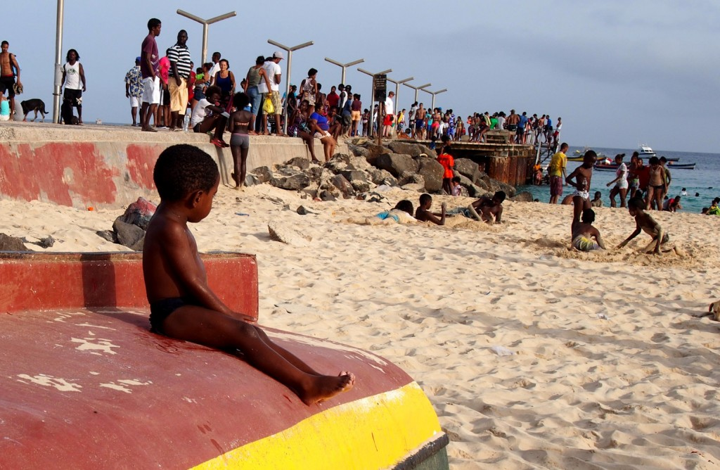 Cape Verde, Sal boy at the beach
