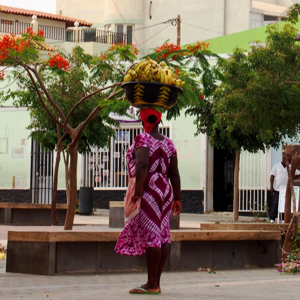 Cape Verde, Sal women with bananas