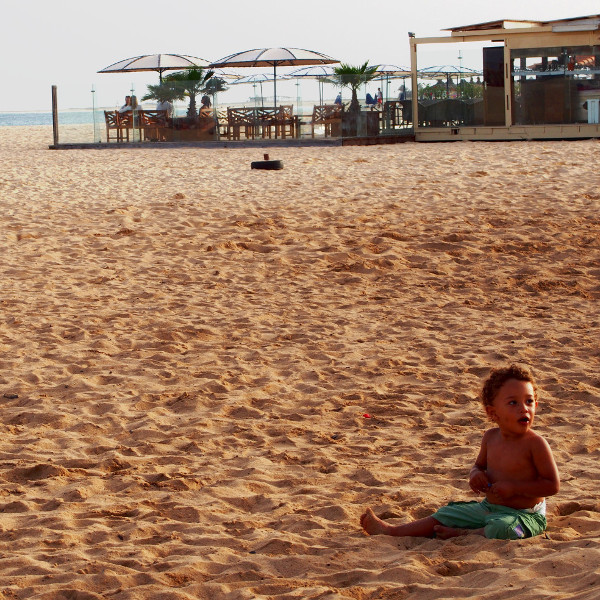 boy at the sandy beach