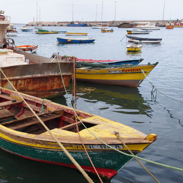 old boats at cabo verde